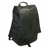 Vespa PU Flap Backpack - Black