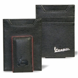 Vespa Textured Magnetic Front Pocket Wallet - Black