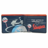Vespa VPRL67 Eco-leather Wallet - Blue/Red