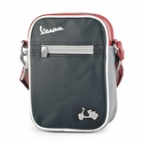 Vespa VPSC13 Small Messenger Bag - Black/Red