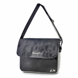 Vespa VPSC26 Manmade Leather Messenger Bag - Black