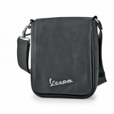 Vespa VPSC52 Manmade Leather Messenger Bag - Black