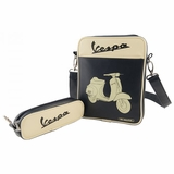 Vespa VPSD14 IPad Bag - Black/White