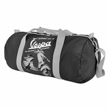 Vespa VPTB14 Nylon Folding Messenger Bag - Black
