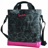 Vespa Women Tote Bag - Black/Pink