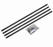 Junction Produce Window Curtain Rail Set Black