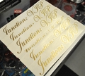 Junction:VIP Authentic Stickers Decals Gold Metallic
