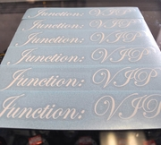 Junction:VIP Authentic Stickers Decals White Gloss