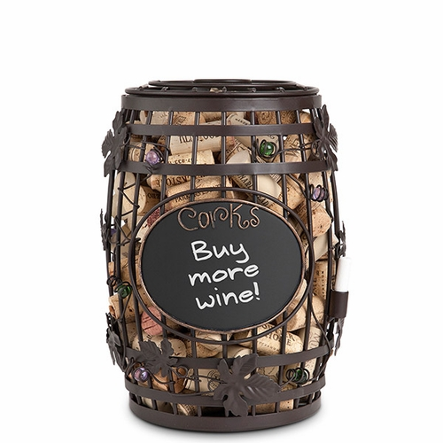 Chalkboard Wine Barrel Cork Cage