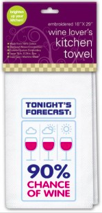Chance of Wine Towel Chance of Wine Kitchen Towel