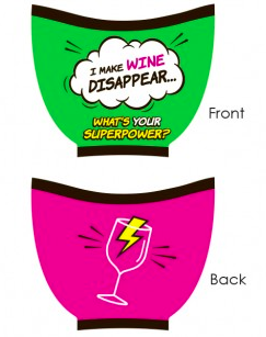 Superpower Wine Glass Sleeve