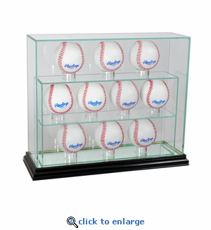 11 Baseball Upright Display Case - Black
