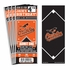 (12) Custom Baltimore Orioles Birthday Party Ticket Invitations With Optional Photo