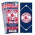 (12) Custom Boston Red Sox Birthday Party Ticket Invitations With Optional Photo