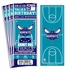 (12) Custom Charlotte Hornets Birthday Party Ticket Invitations With Optional Photo