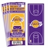 (12) Custom Los Angeles Lakers Birthday Party Ticket Invitations With Optional Photo