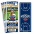 (12) Custom New Orleans Pelicans Birthday Party Ticket Invitations With Optional Photo