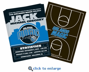 (12) Custom Orlando Magic Birth Announcements