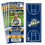 (12) Custom Utah Jazz Birthday Party Ticket Invitations With Optional Photo