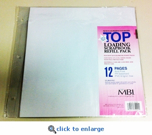 12 x 12 Scrapbook Refill Pages (12)