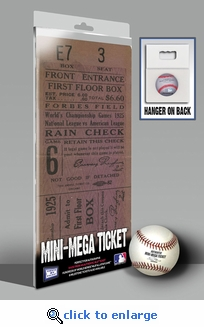 1925 World Series Mini-Mega Ticket - Pittsburgh Pirates