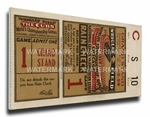 1929 World Series Canvas Mega Ticket - Chicago Cubs