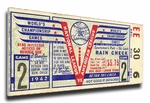 1942 World Series Canvas Mega Ticket - St Louis Cardinals