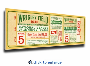 1945 World Series Canvas Mega Ticket - Chicago Cubs