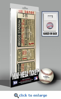 1945 World Series Mini-Mega Ticket - Detroit Tigers