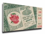 1946 Rose Bowl Canvas Mega Ticket - Alabama Crimson Tide