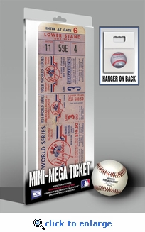 1958 World Series Mini-Mega Ticket - New York Yankees