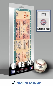 1961 MLB All-Star Game Mini-Mega Ticket - Boston Red Sox