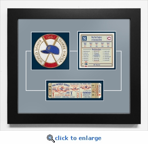 1961 World Series Replica Ticket & Patch Frame - New York Yankees