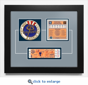 1962 World Series Replica Ticket & Patch Frame - New York Yankees