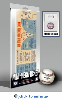 1964 MLB All-Star Game Mini-Mega Ticket, Mets Host - MVP Johnny Callison, Phillies