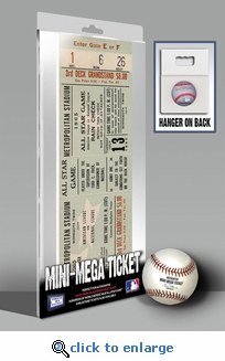 1965 MLB All-Star Game Mini-Mega Ticket, Twins Host - MVP Juan Marichal, Giants
