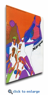 1969 NBA All-Star Game Program Cover on Canvas, Bullets Host, MVP Robertson, Royals