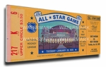 1970 NHL All-Star Game Canvas Mega Ticket, Blues Host - MVP Hull