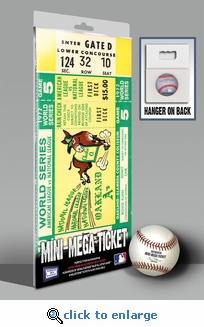 1972 World Series Mini-Mega Ticket - Oakland Athletics