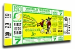 1973 World Series Canvas Mega Ticket - Oakland A's