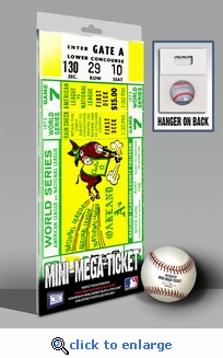 1973 World Series Mini-Mega Ticket - Oakland Athletics