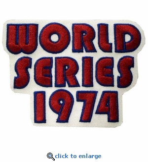 1974 World Series Embroidered Patch - Oakland Athletics vs Los Angeles Dodgers