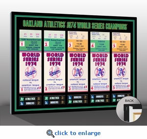 1974 World Series Tickets to History Canvas Print - Oakland Athletics