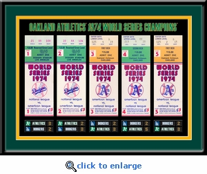 1974 World Series Tickets to History Framed Print - Oakland Athletics
