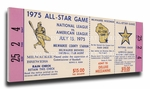 1975 MLB All-Star Game Canvas Mega Ticket, Brewers Host - MVP Bill Madlock, Cubs & Jon Matlack, Mets