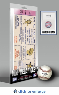 1975 MLB All-Star Game Mini-Mega Ticket, Brewers Host - MVPs Madlock, Matlack