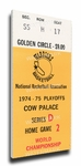 1975 NBA World Championship Canvas Mega Ticket - Golden State Warriors