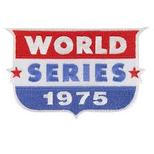 1975 World Series Embroidered Patch - Cincinnati Reds vs Boston Red Sox