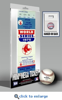1975 World Series Mini-Mega Ticket - Boston Red Sox