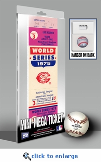 1975 World Series Mini-Mega Ticket - Cincinnati Reds